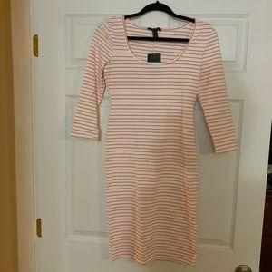 Orange & white stripe dress